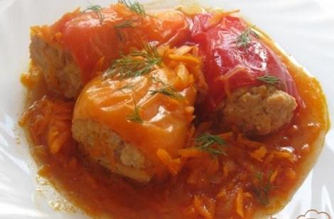 Рецепт перца, начинённого овощами для Великого поста