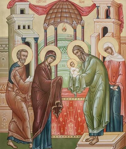 Икона для праздника Сретение Господне