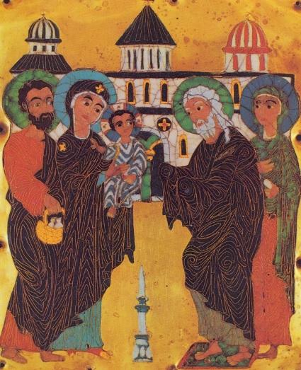 Грузинска икона праздника Сретения Господня